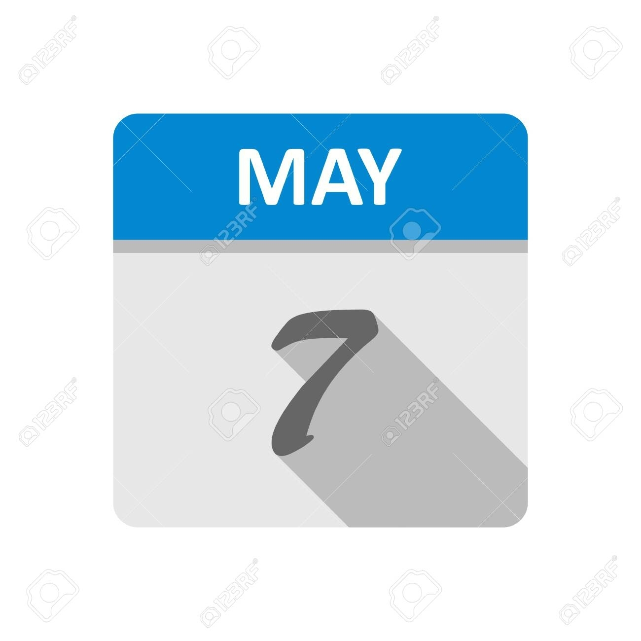 May 7Th Date On A Single Day Calendar