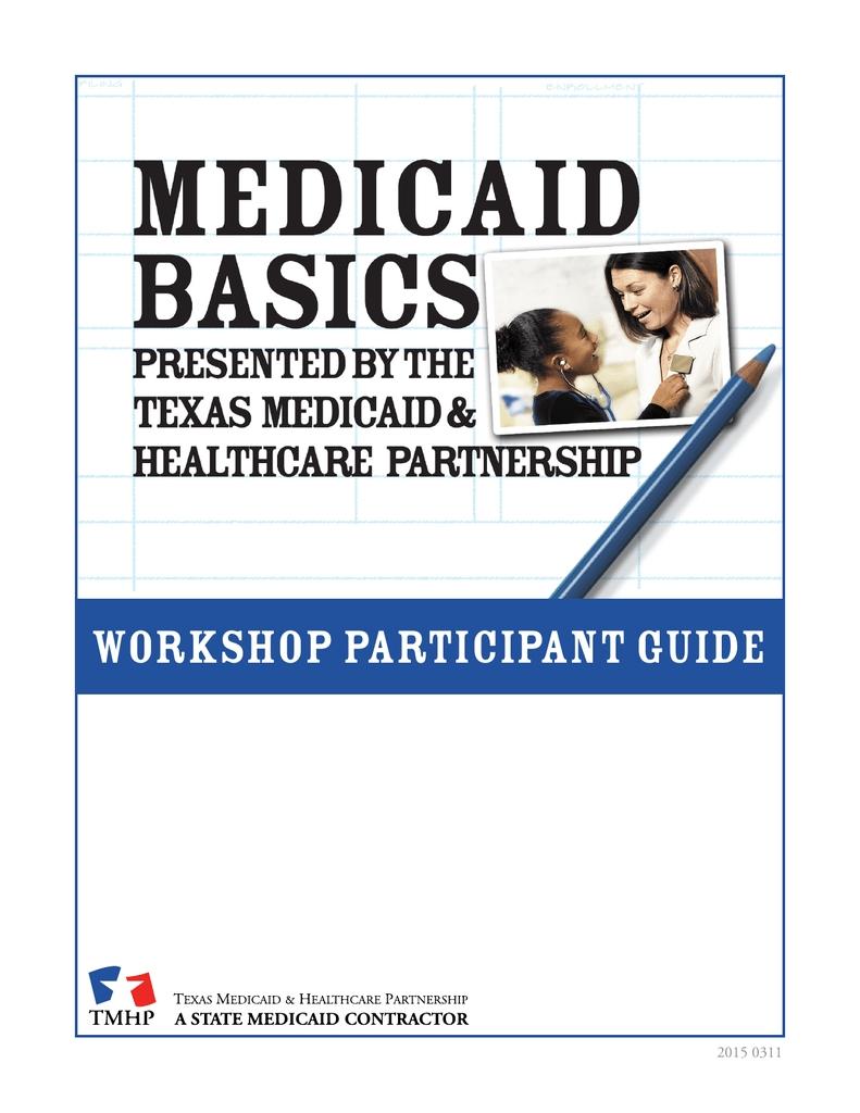 Medicaid Basics Workshop Participant Guide | Manualzz
