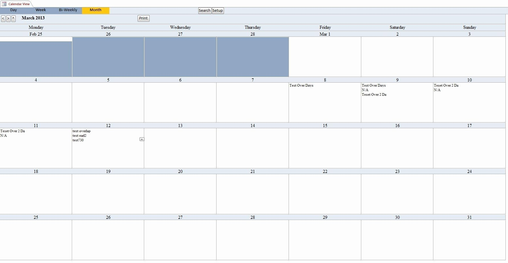 Microsoft Access Calendar Template Best Of Calendar