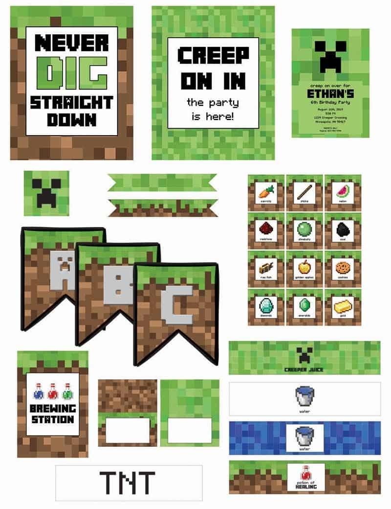 Minecraft Birthday Party (With Free Printables) - Elva M