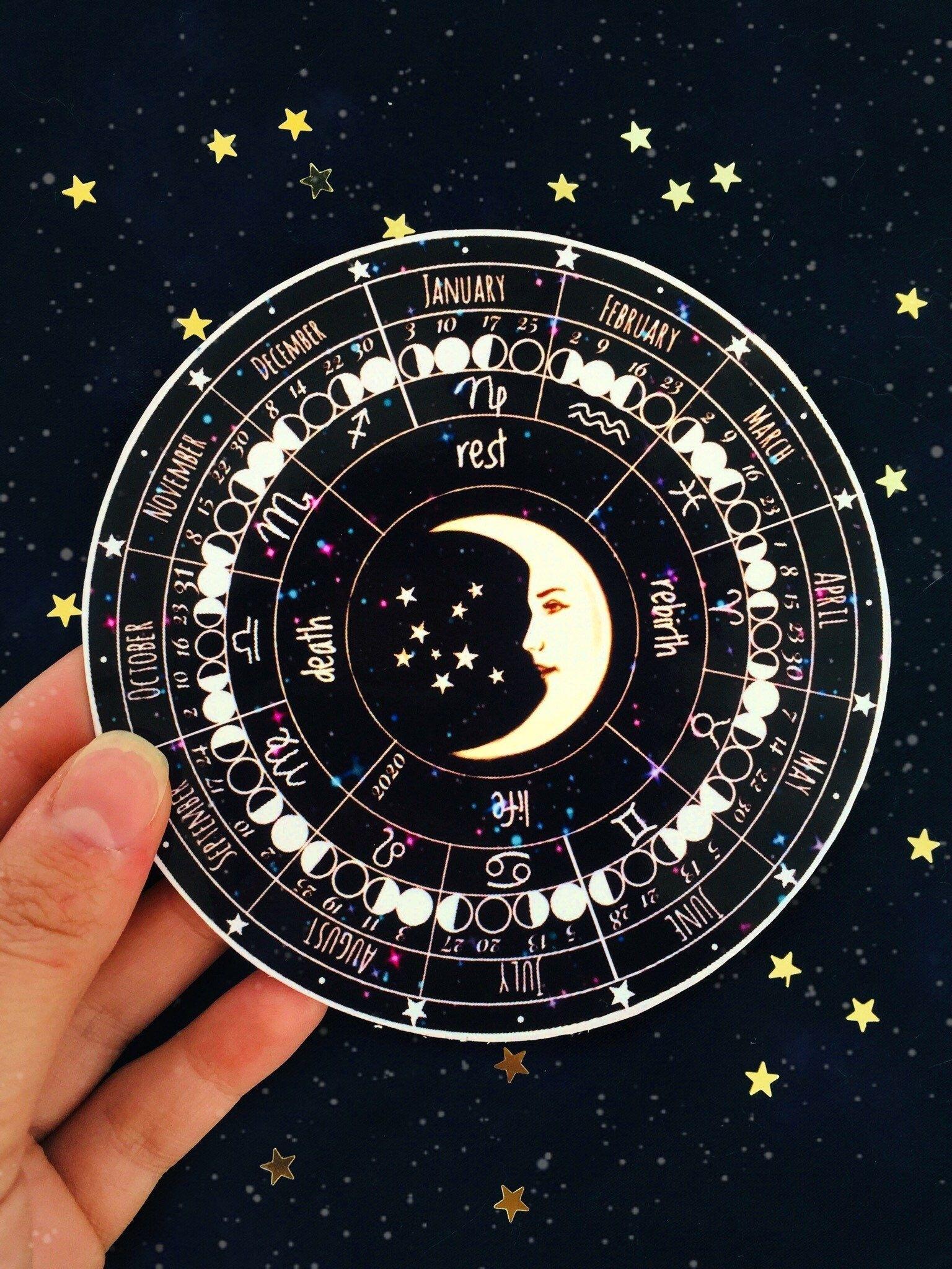 Moon Calendar 2021 Lunar Calendar Zodiac Calendar | Etsy