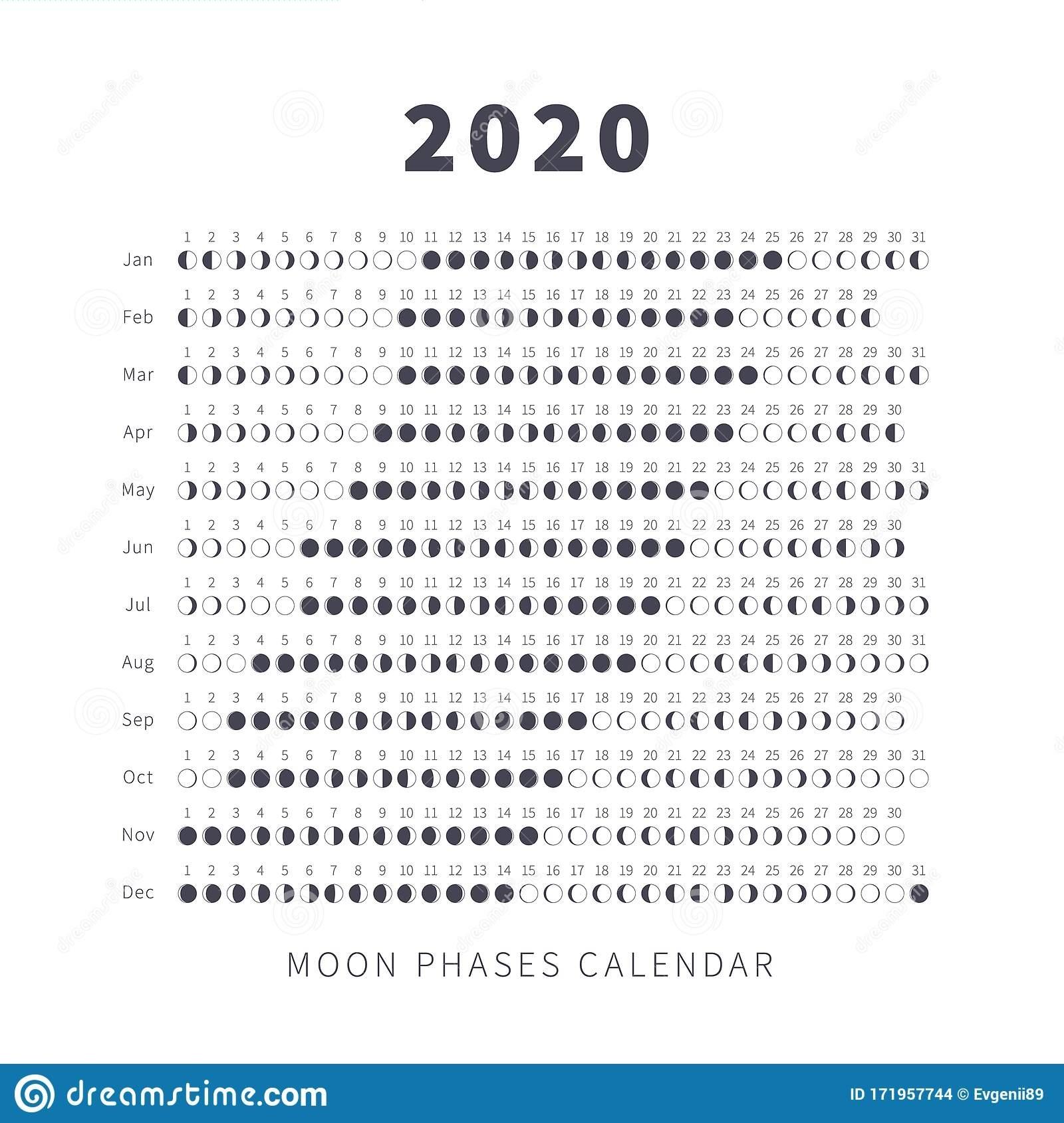 Moon Phase Calendar Stock Illustrations – 794 Moon Phase