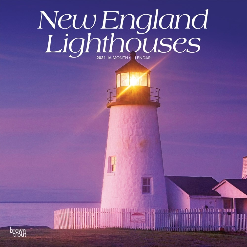 New England Lighthouses 2021 12 X 12 Inch Monthly Square