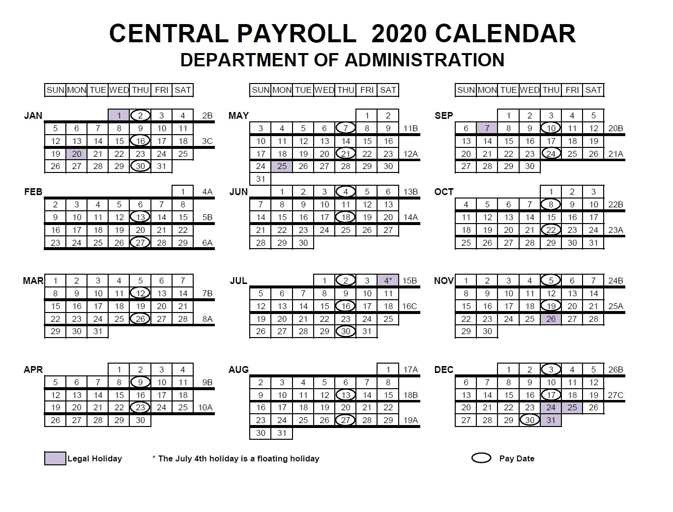Nfc Usda Pay Period Calendar 2020 | 2021 Pay Periods Calendar