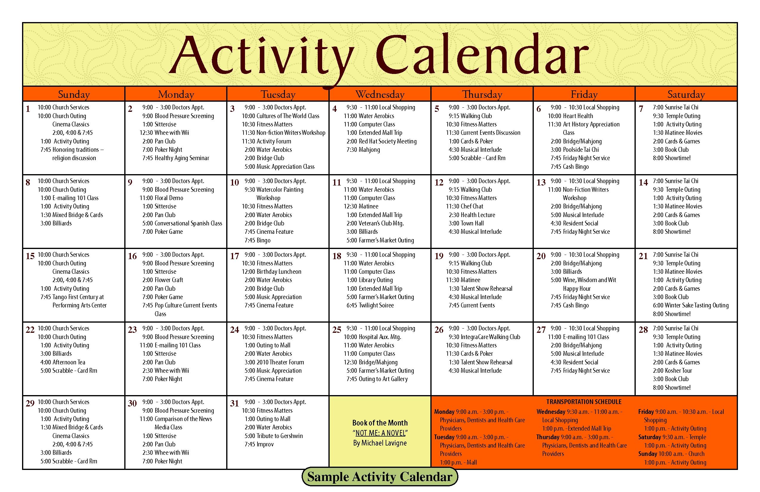 Nursing-Home-Activity-Calendar-Template_124661 - Dementia