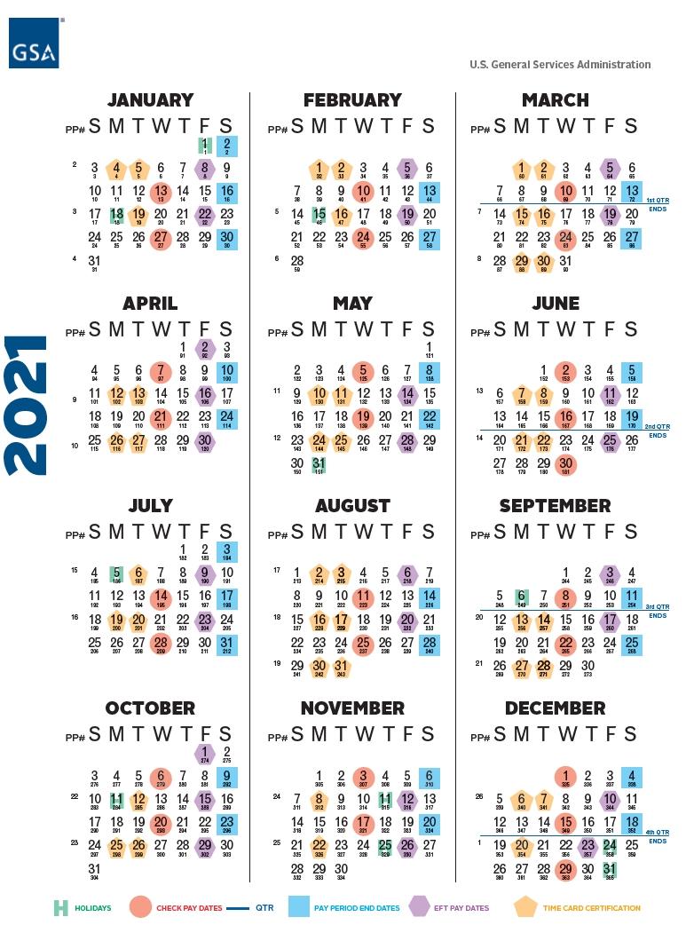 Payroll Calendar 2021