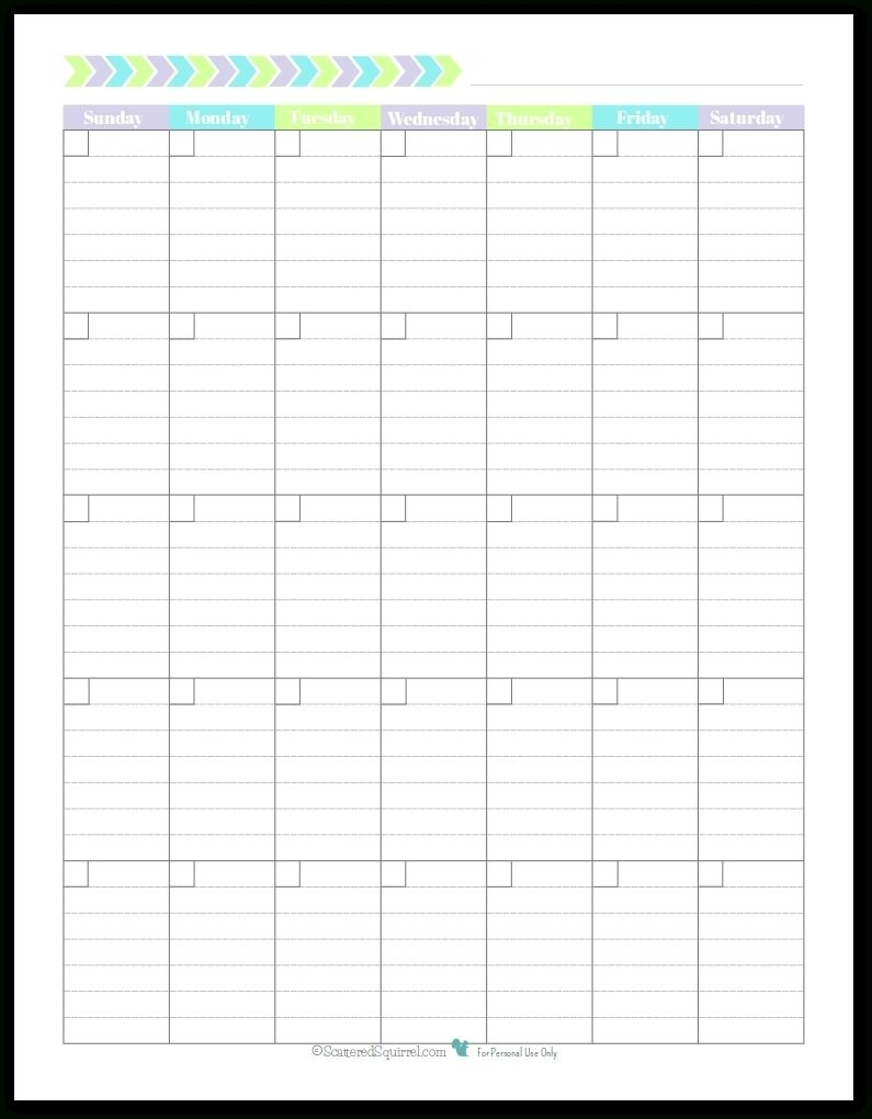 Perfect Blank Lined Monthly Calendar Template In 2020