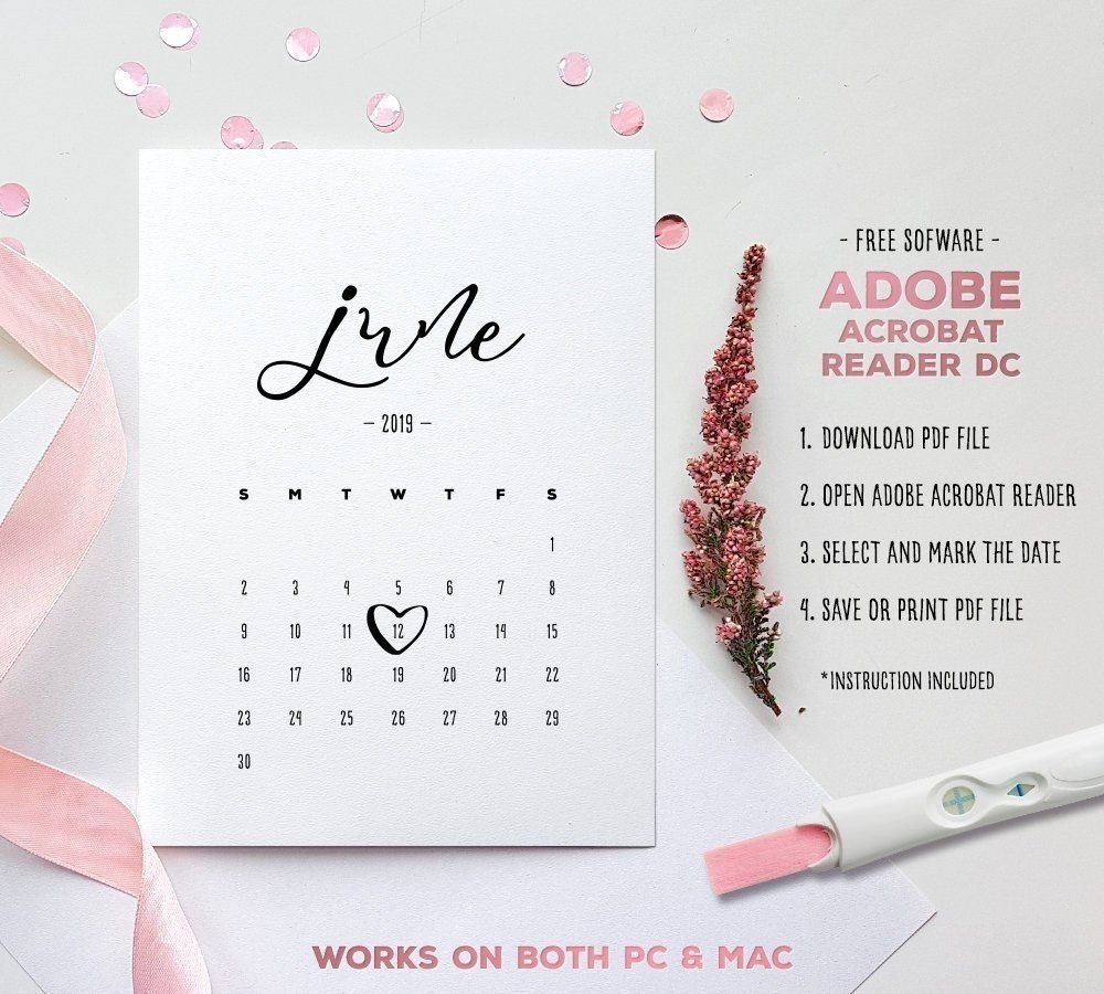 Perfect Printable Baby Due Date Calendar In 2020 | Baby Due
