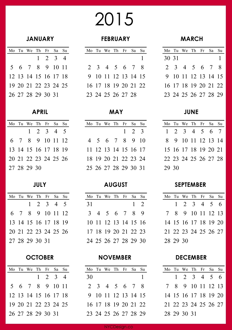 Pin By Candice Huddle On Projects To Try   2015 Calendar
