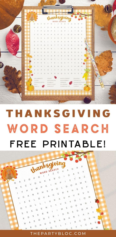 Pin On Free Thanksgiving Printables