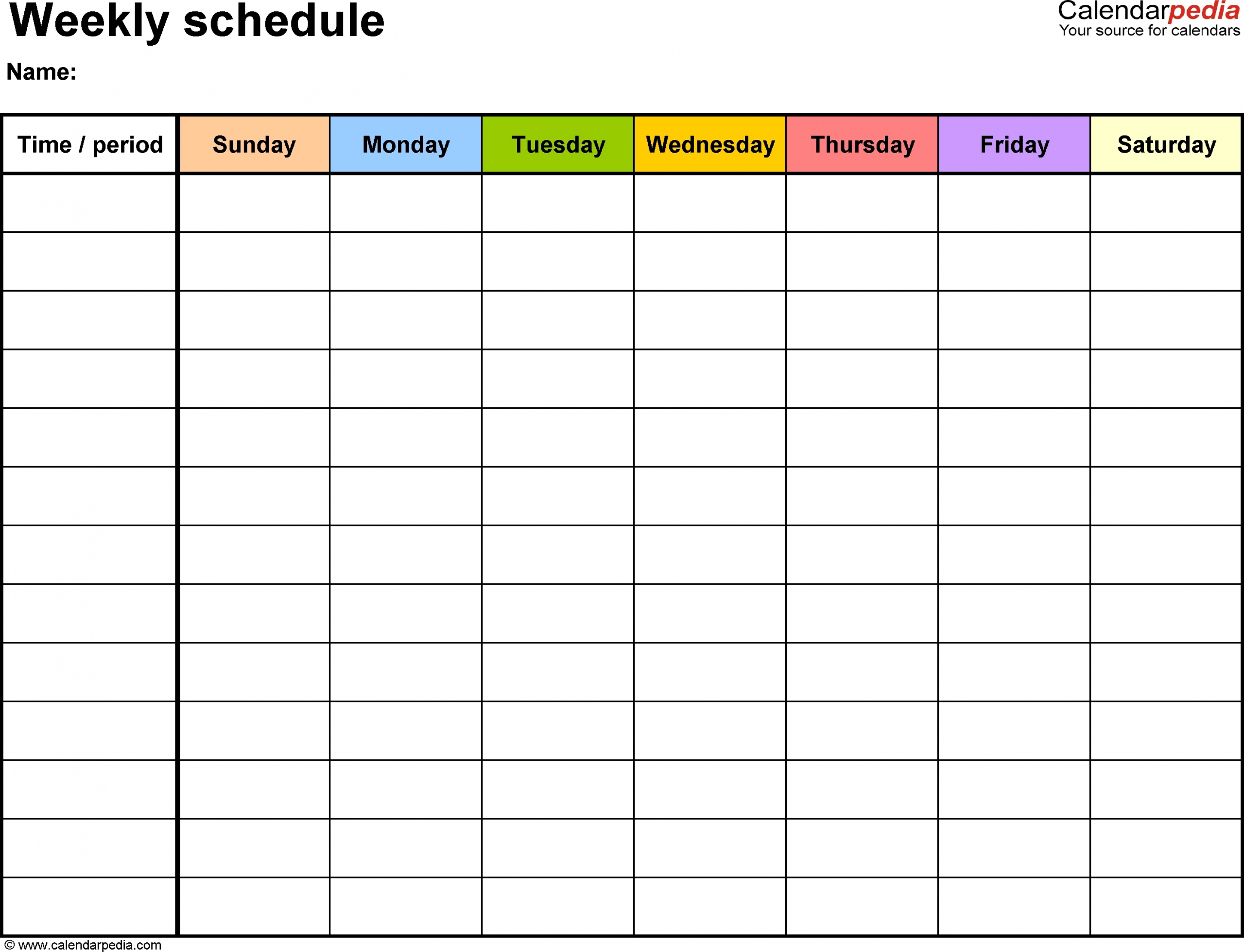 Pin On Kid Stuff In 2020   Weekly Calendar Template, Daily