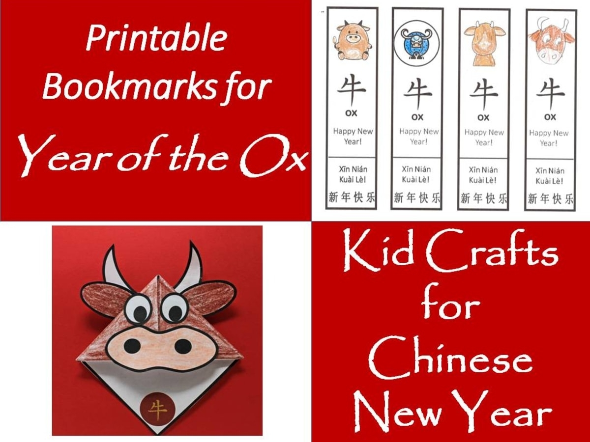 Printable Bookmarks For Year Of The Ox: Kids' Crafts For