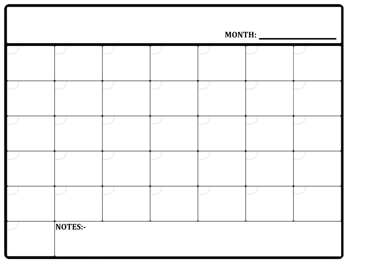 Printable Monthly Planner Template Available In Pdf And Jpg