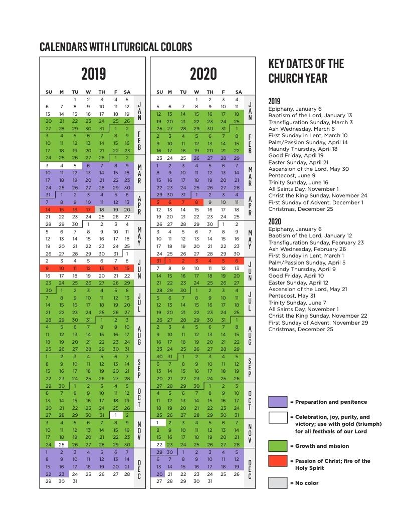 Rca Liturgical Calendar | Reformed Church In America