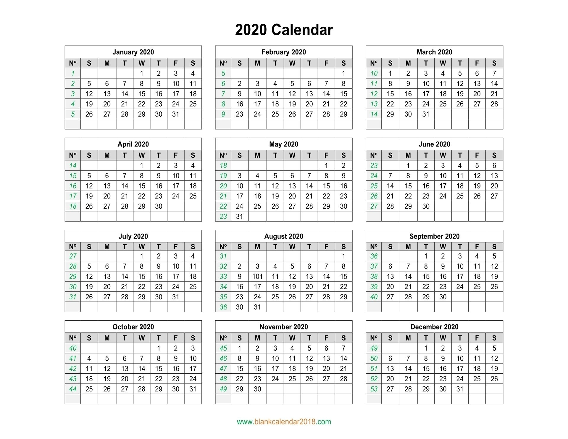 Remarkable Calendar With Days Numbered 2020 In 2020