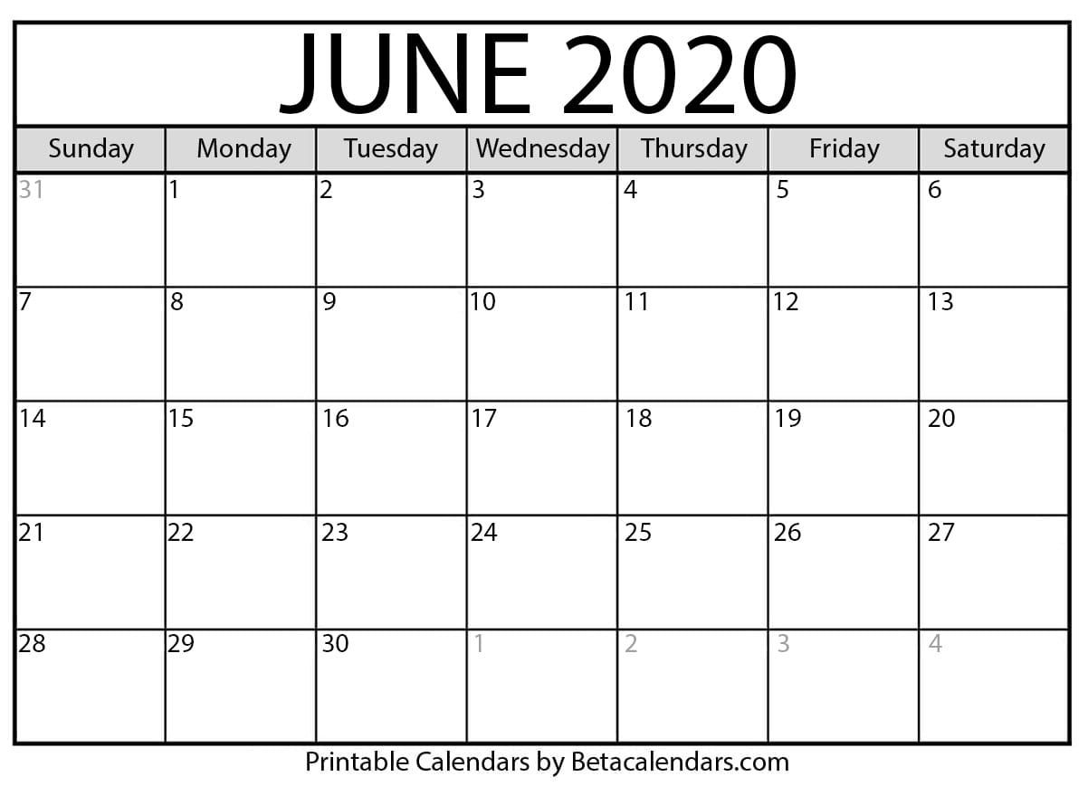 Remarkable Printable Calendar With Numbered Days 2020 In