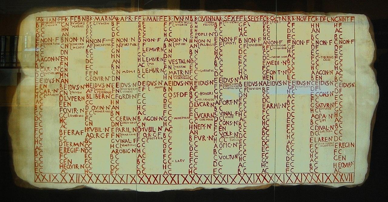 Roman Calendar - Wikiwand