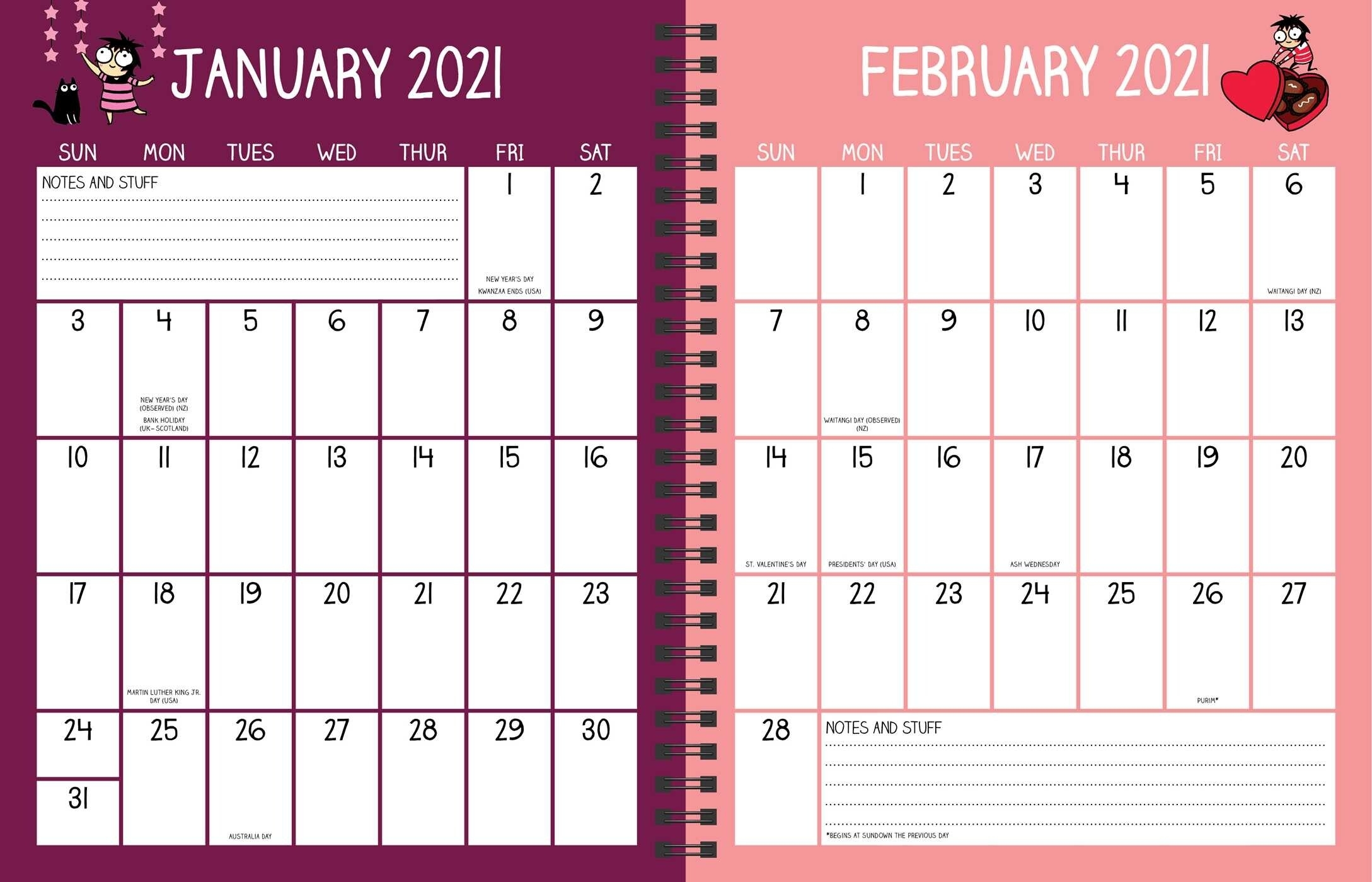 Sarah'S Scribbles 16-Month 2020-2021 Weekly/Monthly Planner