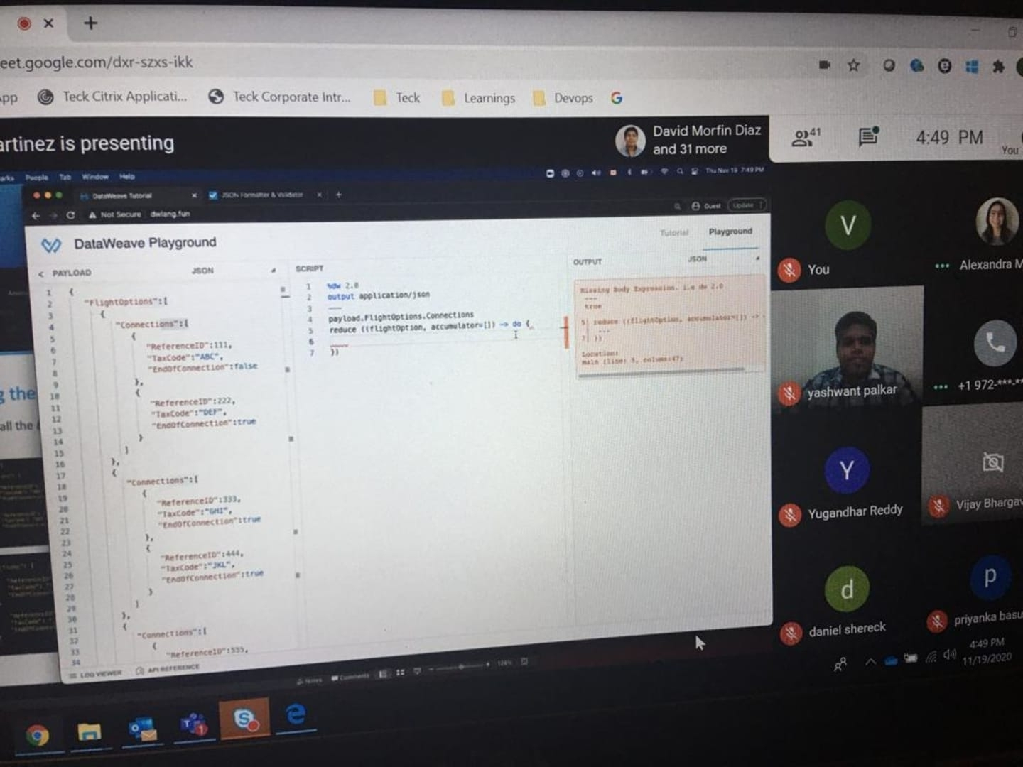 See Reviewing Dataweave Transformation At Mulesoft Meetups