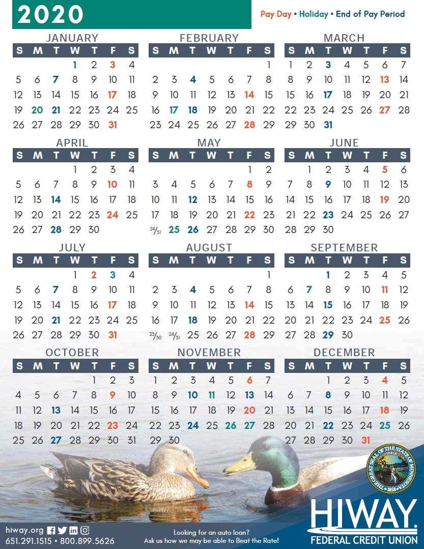 State Of Minnesota (Mn) Payroll Calendar 2021 | Payroll Calendar