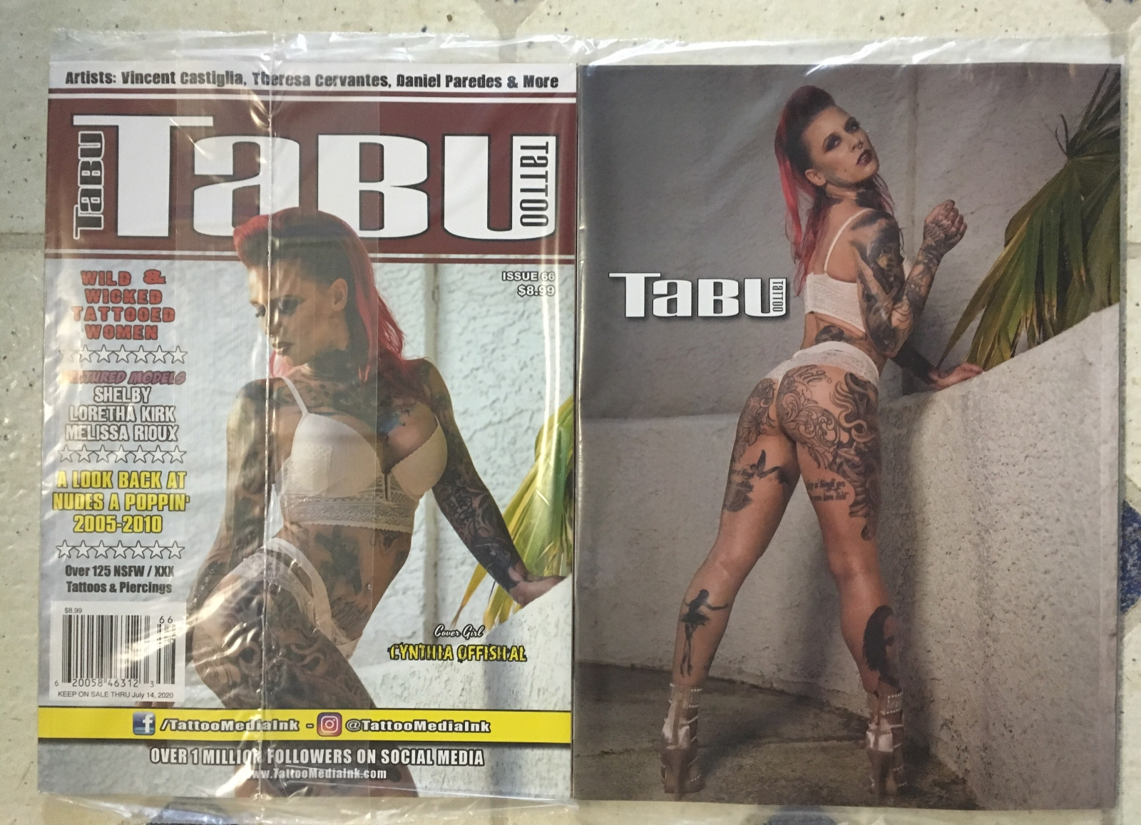 Tabu Tattoo Issue 66 Sexy Cynthia Offishal A Look Back At 2005-2010 Shelby  Women