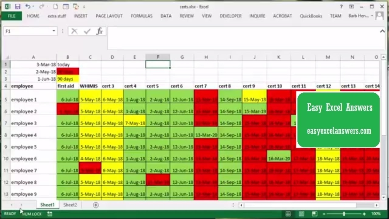 Template: Excel Template For Tracking Expiration Dates