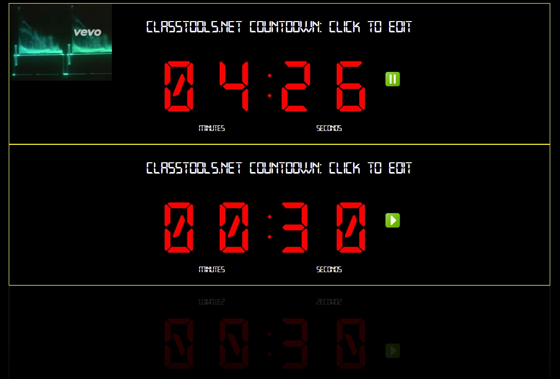 The New Classtools Countdown Timer Offers Multiple Timers