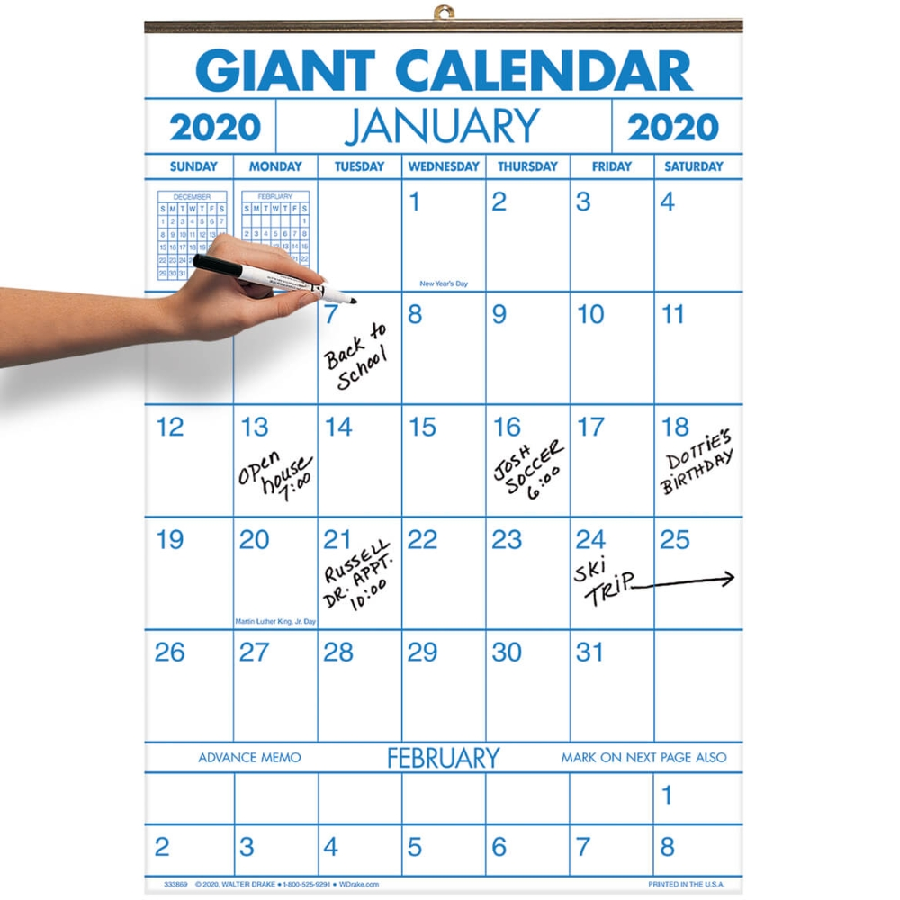 "The Two Year Large Calendar In A Visible 14 1/4"" X 21 3/4"