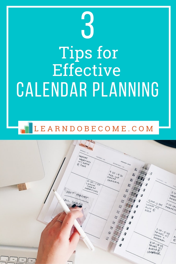 Three Easy Ideas To Help You Love Your Calendar | How To