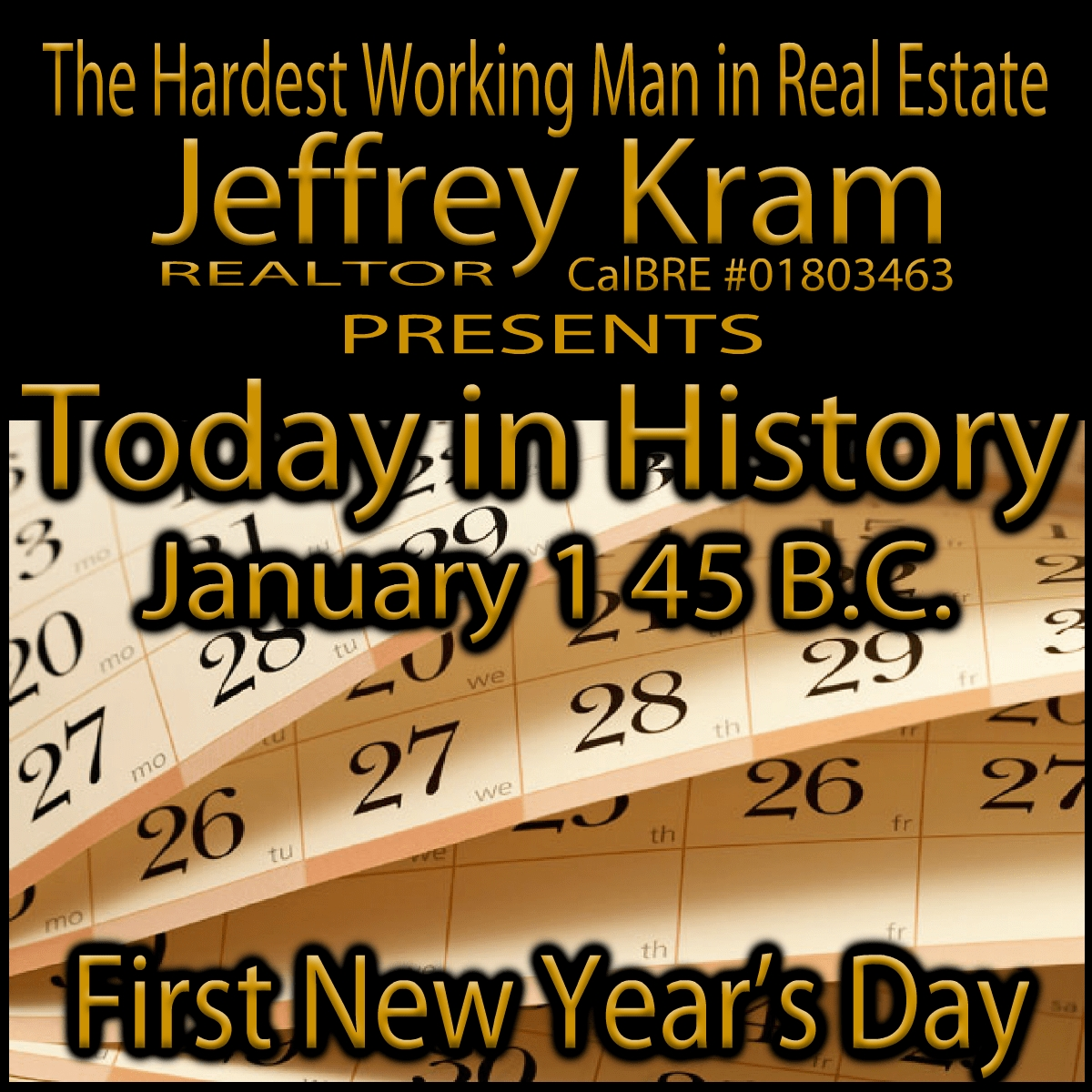 Today In History January 1 45 Bc | Today In History, History