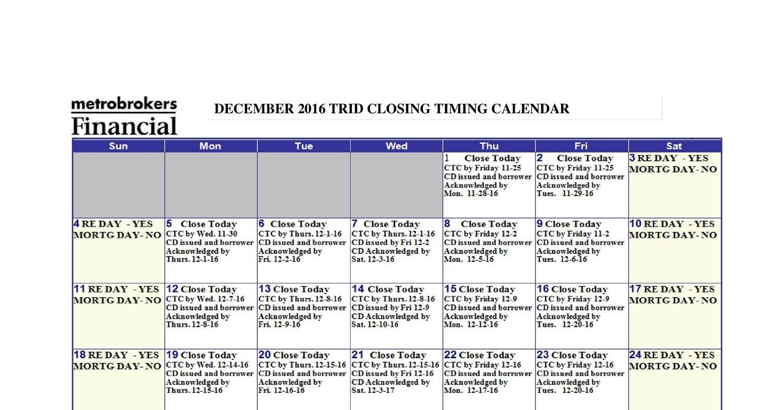 Trid Calendar - December 2016Pdf | Docdroid