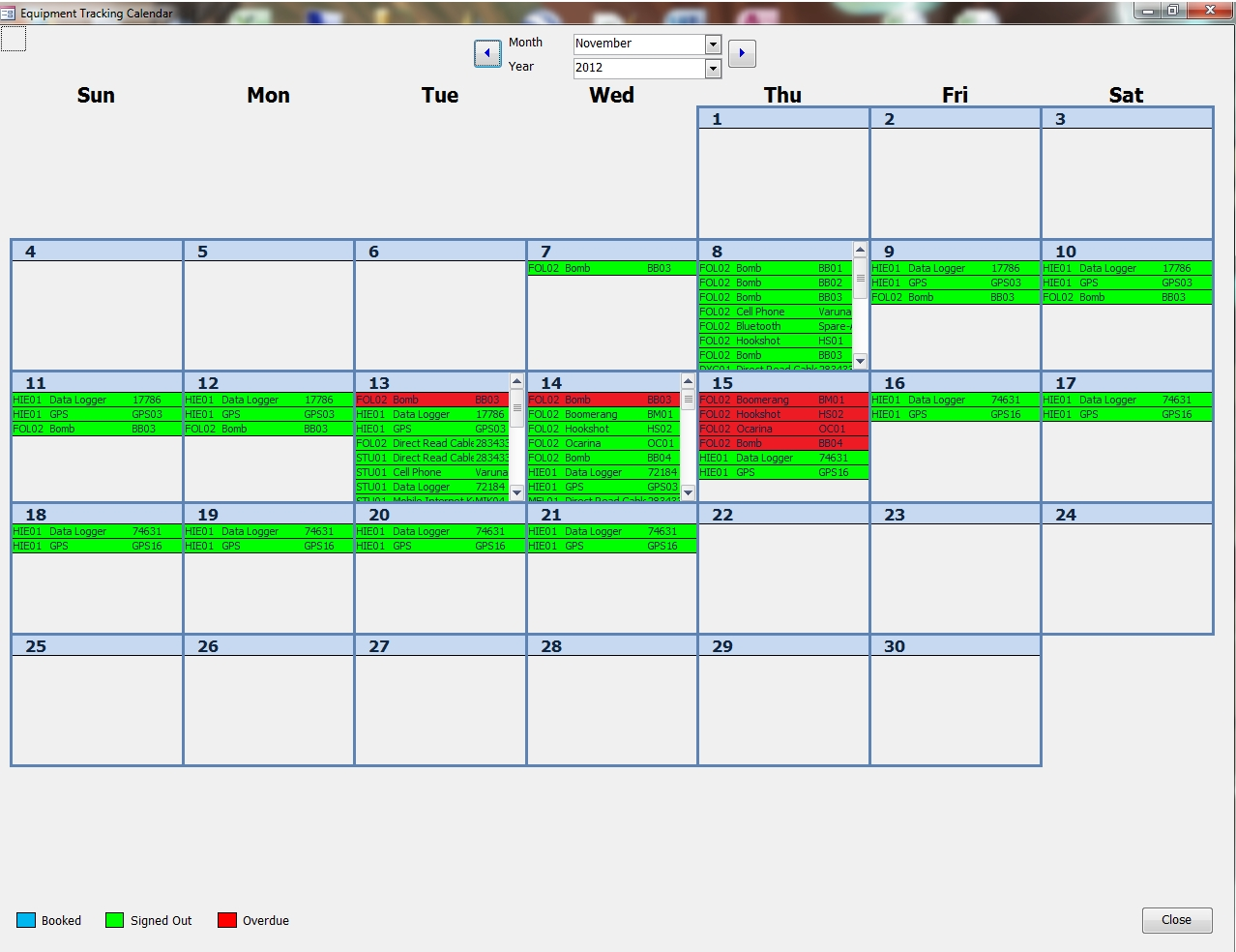Trying To Make An Efficient Calendar In Microsoft Access