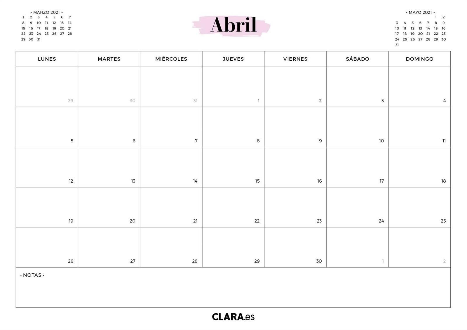 Tu Calendario 2021 Para Imprimir