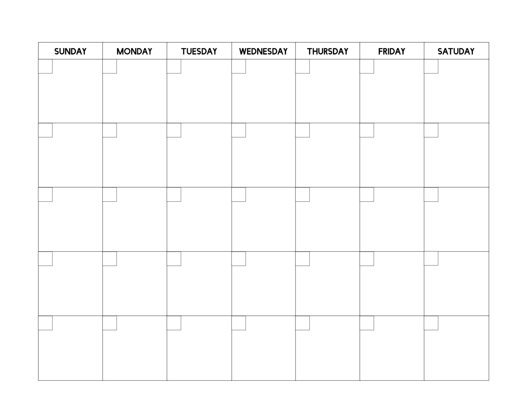 Universal Blank Calendar To Fill In 2020 | Blank Calendar