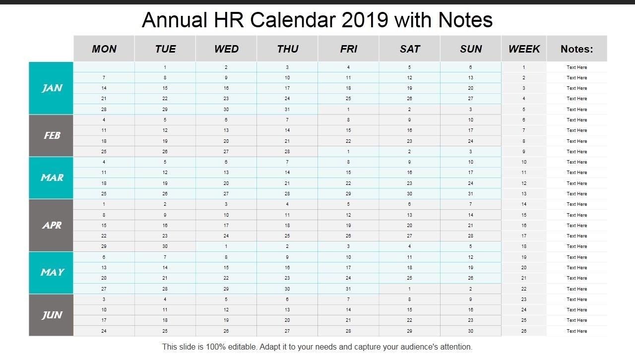Universal Hr Calendar For The Year Di 2020