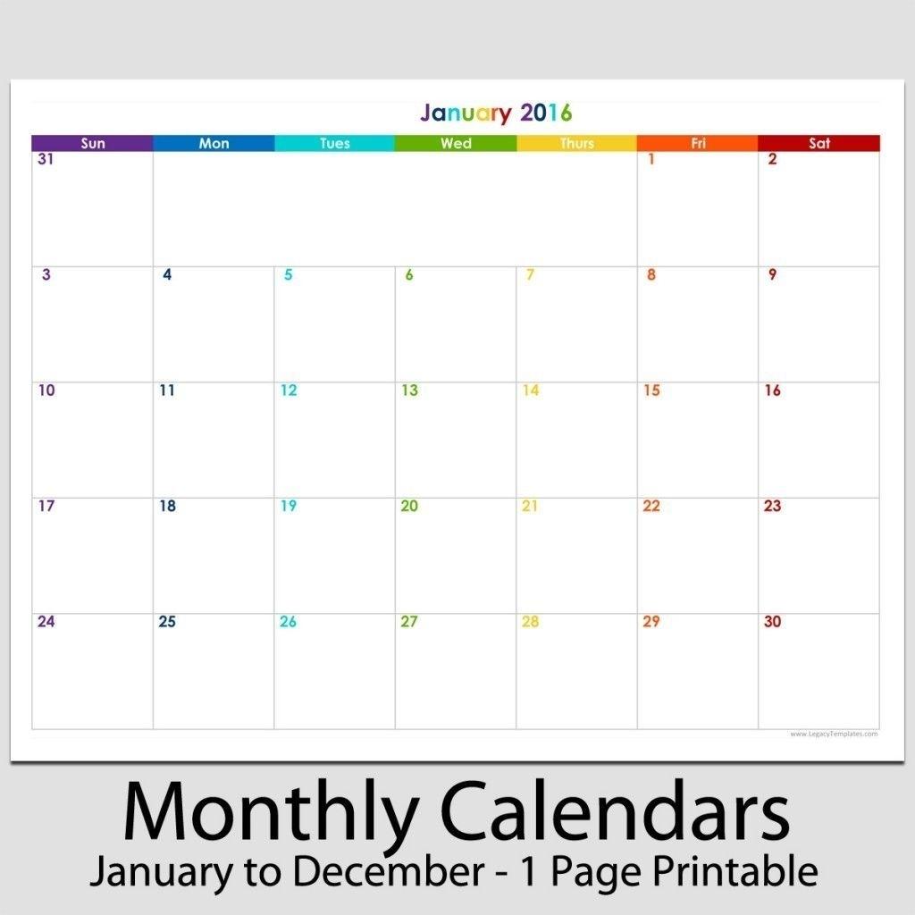Universal Printable Calendar 8 1/2 X 55 In 2020 | Blank