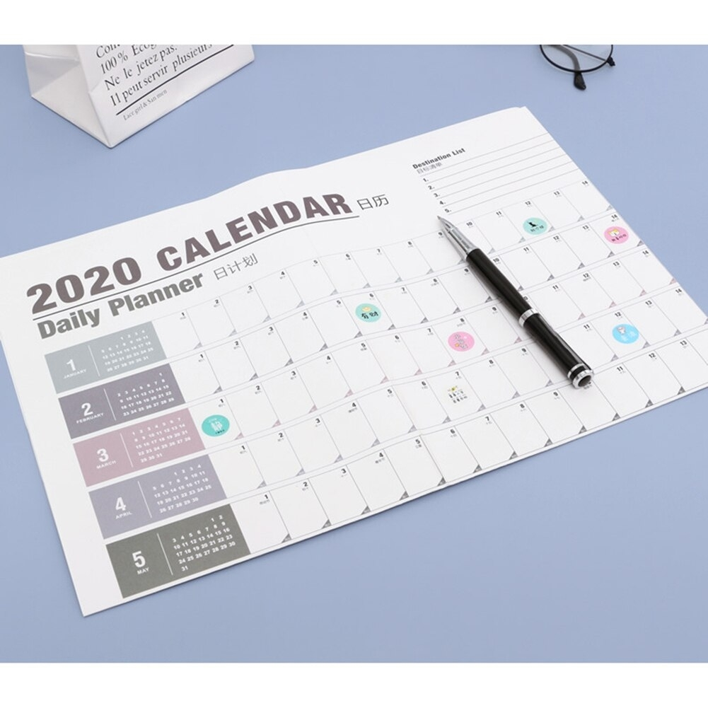 Us $207 15% Off|2020 Calendar Wall Calendar 365 Days Countdown Diary  Calendar New Arrive Study New Year Plan Schedule Organizer|Calendar| -