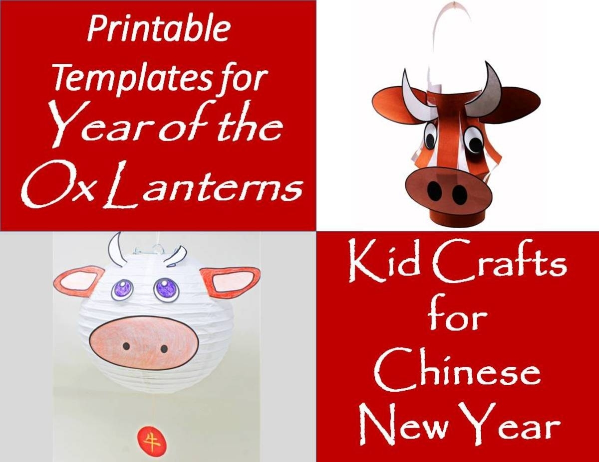 Year-Of-The-Ox Lanterns For The Chinese New Year (Printable