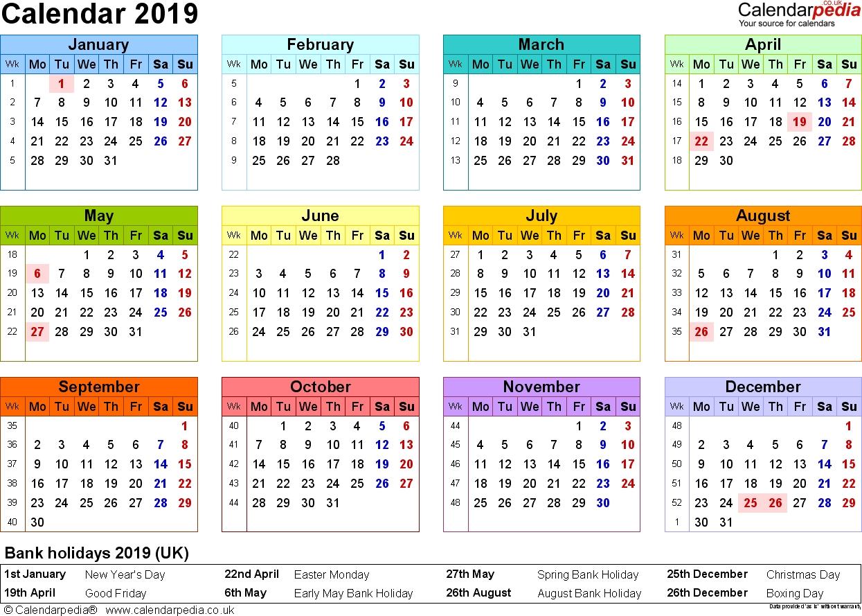 12 Months To View Monthly Calendar | Calendar Template