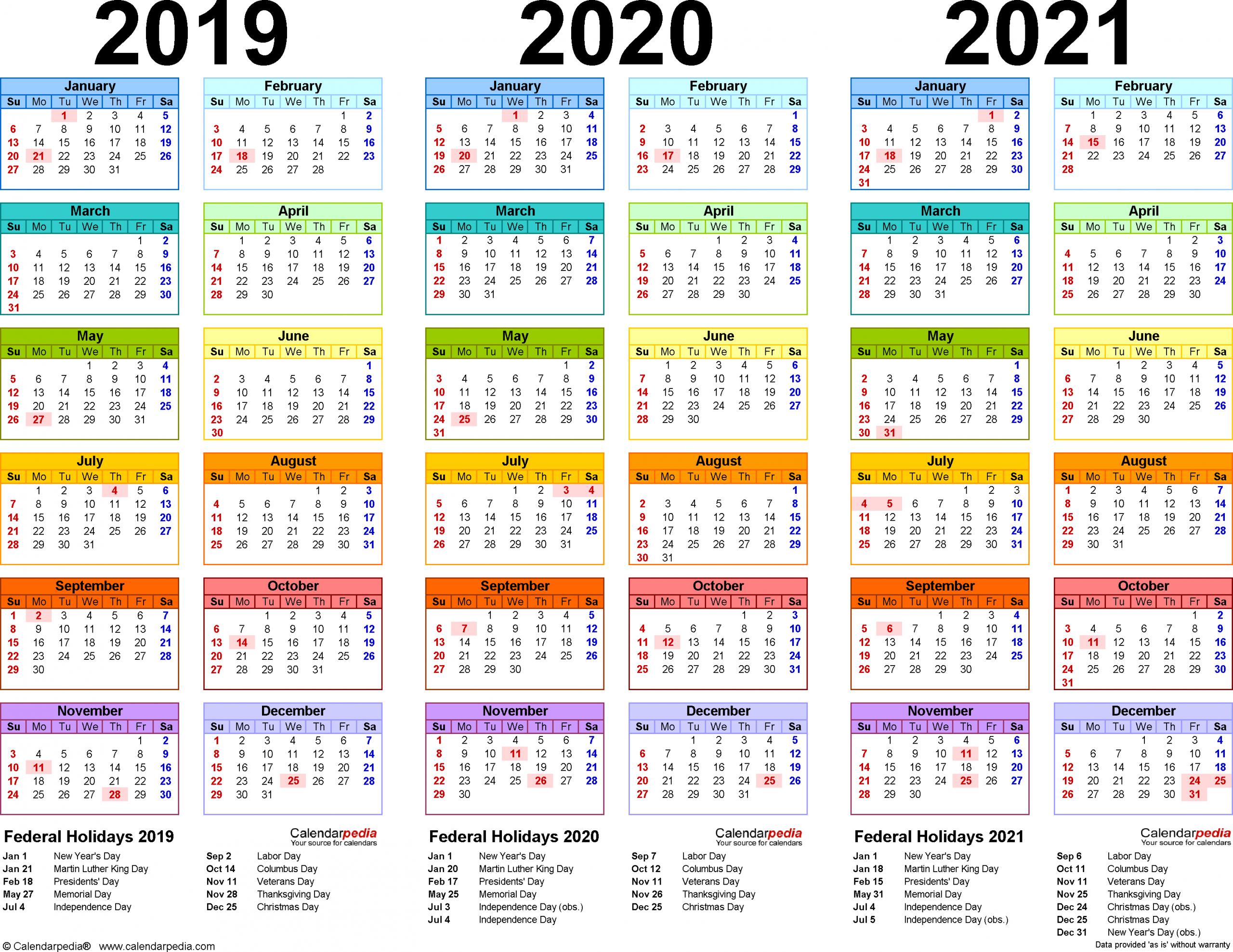 2020-2021 Calendar   Free Printable Calendar