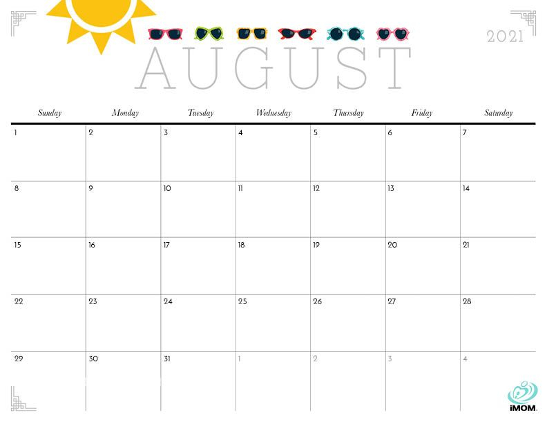 2020 And 2021 Cute Printable Calendars For Moms - Imom In