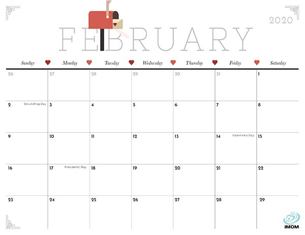 2020 Crafty And Cute Printable Calendar For Moms