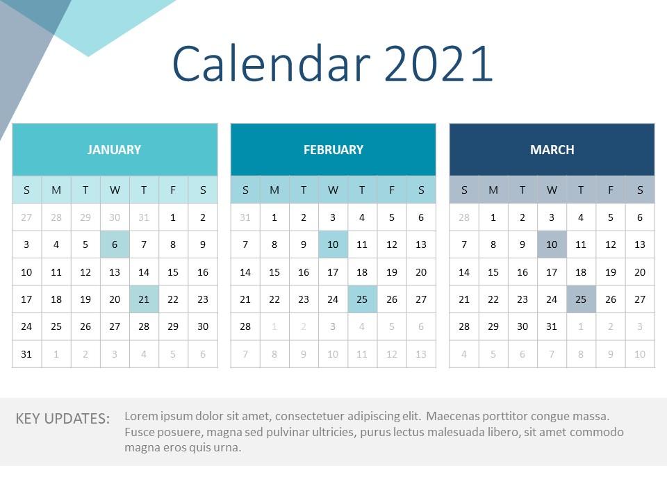 2021 Calendar Powerpoint Template | Calendar Templates