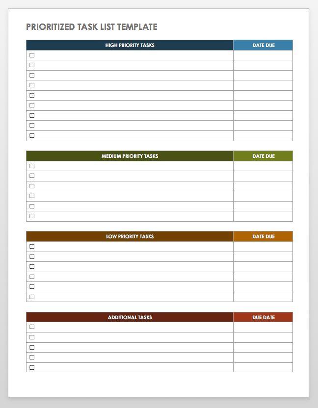28 Free Time Management Worksheets   Smartsheet   Time