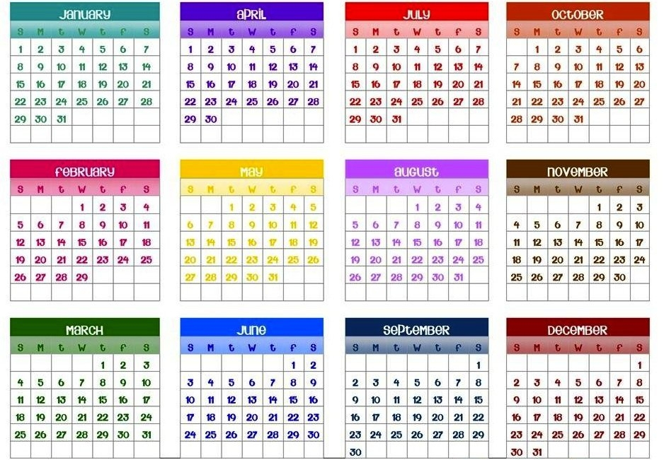 365 Day Calendar By Day Number Photo | Calendar Template 2020