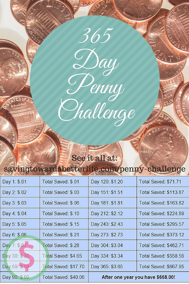 365 Day Penny Saving Challenge | Savings Challenge, Money