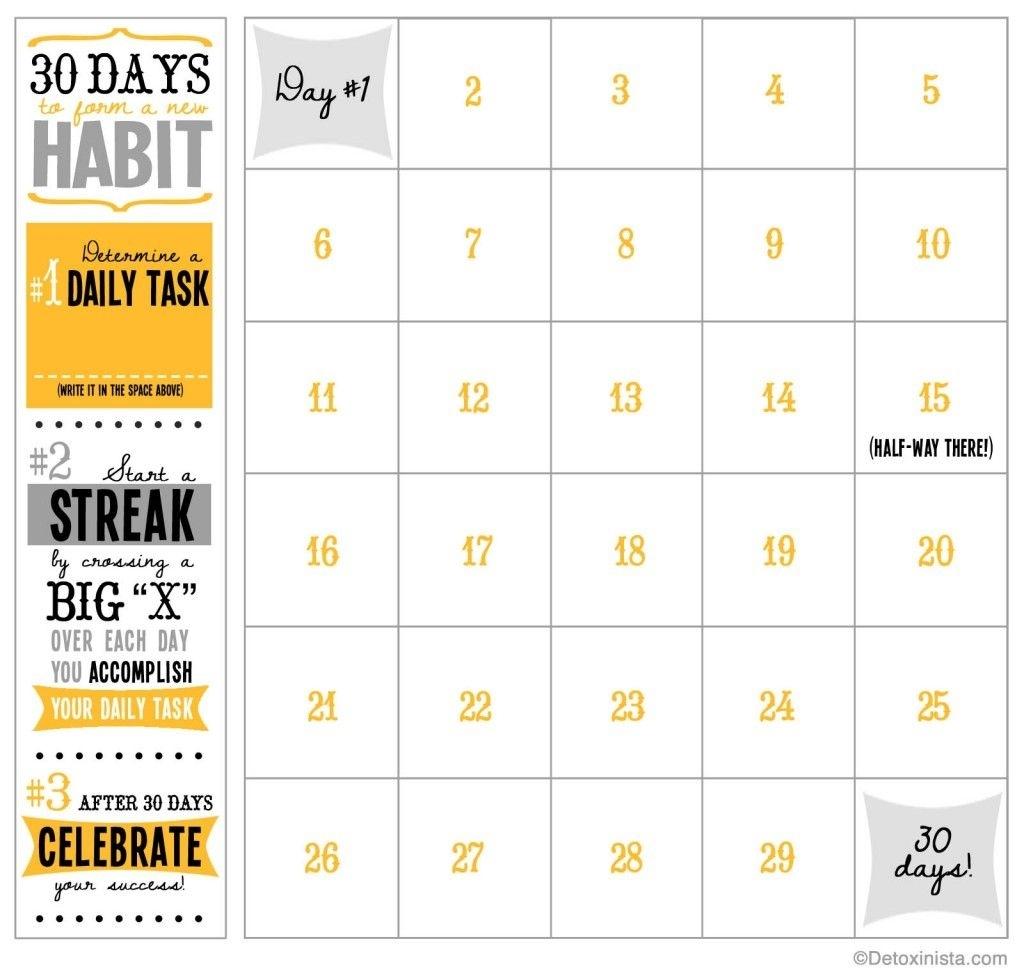 60 Days Challenge Template Calender - Calendar Inspiration