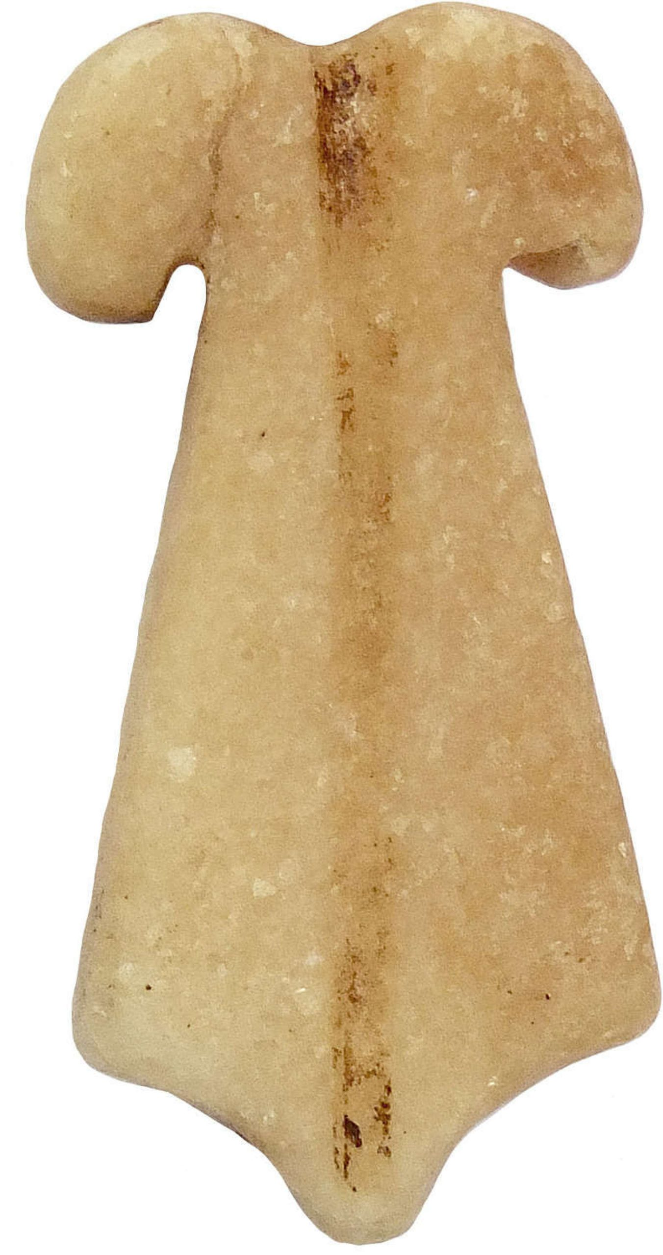 An Egyptian Limestone Double Plumed Amulet, C 730-300 Bc