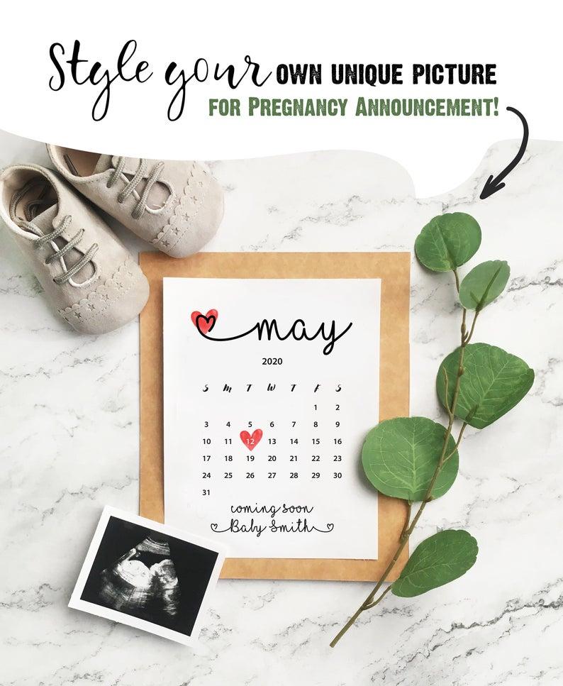 April 2021 Pregnancy Announcement Baby Due Date Calendar
