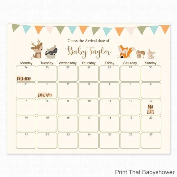 Baby Guess Birthday Free Printable | Calendar Template 2021